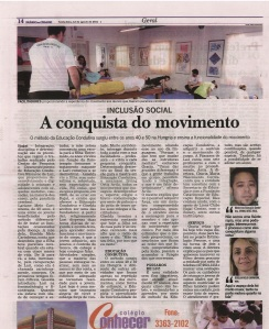 Matéria do Jornal Diário da Cidade em 12/08/2011